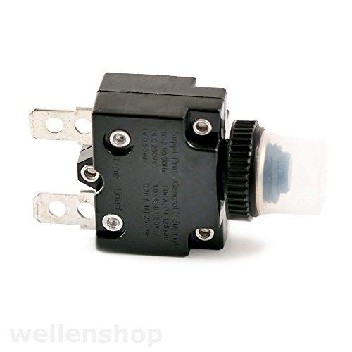 wellenshop 12V Sicherungsautomat mit spritzwassergeschützer Kappe L2 10A Bootssicheung Automatik