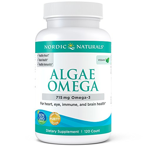 Nordic Naturals Algae Omega - Vegetarian Omega-3 Supplement for Eye Health, Heart Health, and Optimal Wellness*, 120 Count