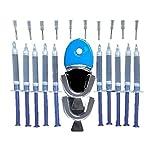 YepYes 1sEset Professional Dientes Kit de blanqueamiento 10 jeringas de Gel 2 bandejas y blanqueamiento Acelerador Luz Práctica Dental Whitener
