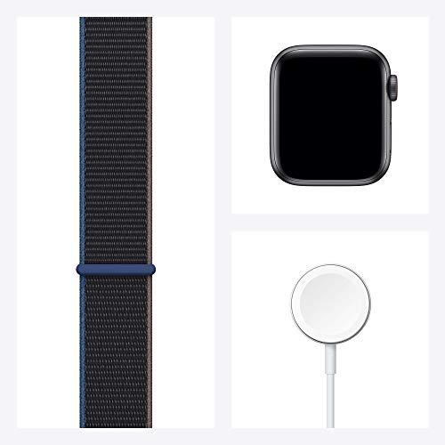 AppleWatch SE (GPS+ Cellular, 40mm) Aluminiumgehäuse Space Grau, Sport Loop Kohlegrau