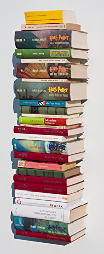 Weller 3X Bücherturm unsichtbares Bücherregal Regal schwebend Geschenkidee
