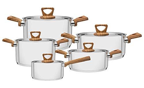 Tramontina Brava Batería de cocina de 5