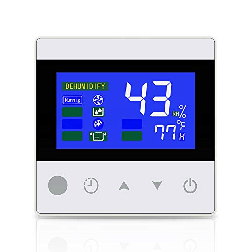 COLZER Crawl Space Dehumidifier Remote Controller for Digital Humidity, Temperature, Timer, Adapt The Humidity Level, for Crawl Space Basement Dehumidifier