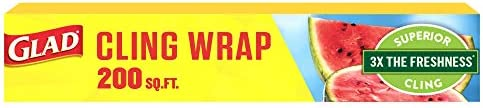 Glad ClingWrap Plastic Wrap - 200 Square Foot Roll (Package May Vary)