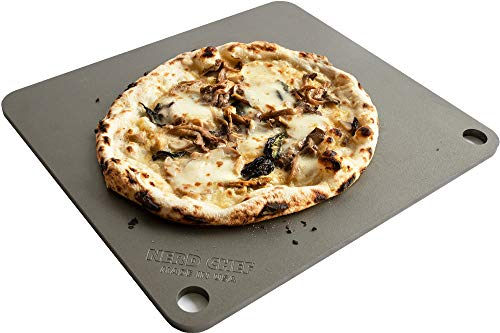 NerdChef Steel Stone  HighPerformance Baking Surface for Pizza 375 Thick  Pro