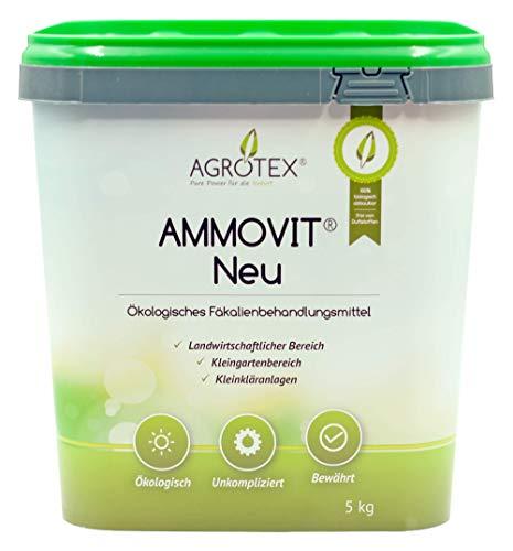 Agrotex AMMOVIT Neu 5 kg, natürlicher ökologischer Sanitärzusatz Sanitärflüssigkeit, Geruchs- und Fäkalienbehandlung, Sanitär Zusatz Fäkalientank & Abwassertank, Boots Toilette, Bus Toilette, Chemietoilette und Kassettentoilette, Landwirtschaftlicher Bereich, Dünger, Haus & Garten, reicht für ca. 15 m³ Tankinhalt reine Fäkalien oder Gülle