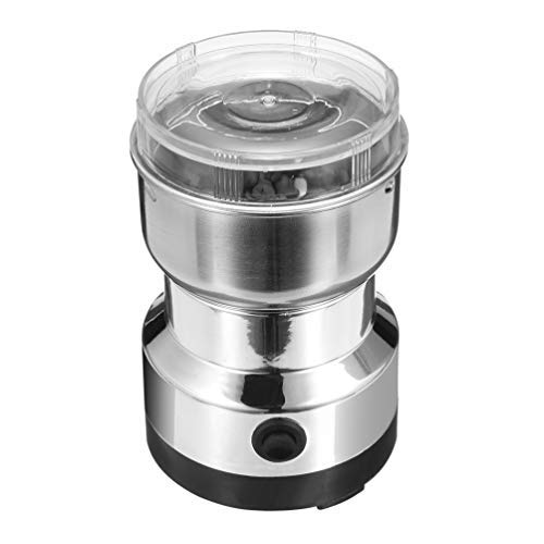 110V Coffee Grinder Electric Spice Nut Herb Pepper Grinder with Stainless Steel Blade Grinder for Coffee Grounds Grains