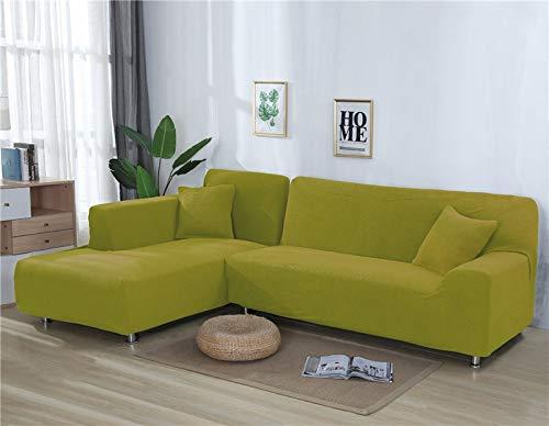 Fundas de sofá Lisas para Sala de Estar Funda de sofá de Forro Polar elástico Funda de sofá de Esquina Funda Protectora de sofá seccional en Forma de L A14 1 Plaza