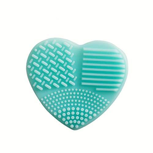 ZYYXB Silicone Brush Cleaner Make up Brush Cleaner Mat Cosmetic Brush Cleaner Pad Nettoyage Pads Outil de Lavage Brosse cosmétique Portable avec Ventouse,Bleu Vert