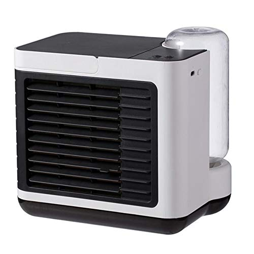 YGTMV Air Cooler Mini,Wiht 3 Velocidades Aires Acondicionados Móviles,LED Aire Acondicionado,3 En 1 Table Fan Humídrico De Aire para Seguridad del Exterior,Blanco