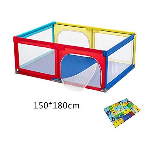 LXLX Cerca de la Zona de Juegos para niños Parque Infantil para bebés Cuna de Arrastre colchoneta de protección para niños pequeños (120 * 120cm / 150 * 180cm) (Tamaño : 150 * 180cm)