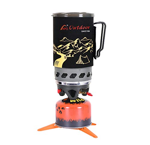 APG Mount 1.4-Liter Camping Stove Cooking System   Propane Burner Outdoor Hiking Backpacking Camp Stove   Portable Gas Stove Burner   Fast Boil Fuel Efficient Flash Cooking