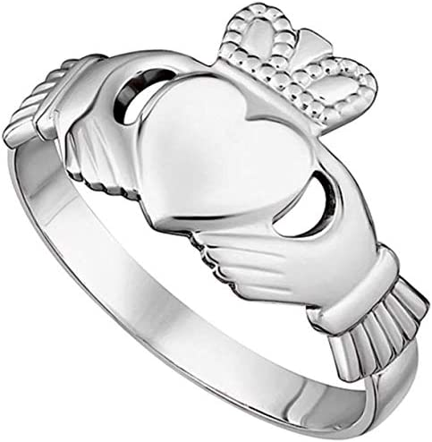 Womens Claddagh Maids Ring Made in Ireland Classic Sterling Silver Traditional Claddagh Design product image