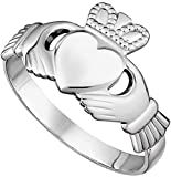 Womens Claddagh'Maids' Ring Made in Ireland Classic Sterling Silver Traditional Claddagh Design Fine Details Made in Co. Dublin by Maker-Partner Solvar Size 7