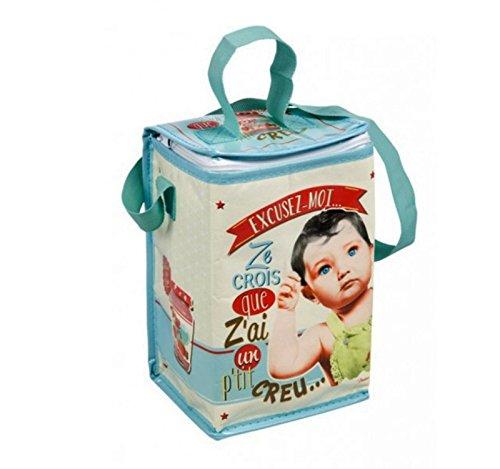 410810 7084 Sac isotherme au format biberon pour bébé Motif Paris vintage