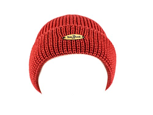 tomBrook | Costeau-Mütze | Top Qualität aus 100% Schurwolle | Made in Germany | Rot