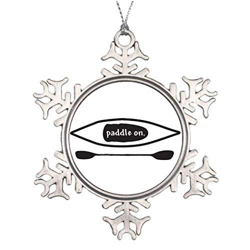 Cukudy kajak en peddel eenvoudige zwarte lijn kunst ontwerp te koop boot grappige vakantie ambachten sneeuwvlok ornamenten huis kerstboom Decor