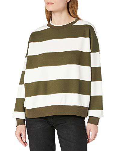 edc by ESPRIT Damen 021CC1J309 Sweatshirt, 350/KHAKI Green, M