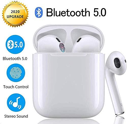 Auriculares Bluetooth 5.0 Inalámbricos TWS i12 Touch Control y Pop-Up Conexión Emergente Sonido Estéreo HD con IPX7 Waterproof Emparejamiento Automático para Trabajo y Deportes Viaje