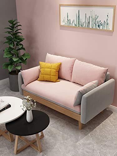 Nordic Solid Wood Latex Sofa Modern Minimalist Small Apartment Removable and Washable net red Fabric Sofa Combination Double Triple