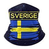NA Sverige Gesichtsmaske Schweden, schwedische Flagge, winddicht, für Damen und Herren