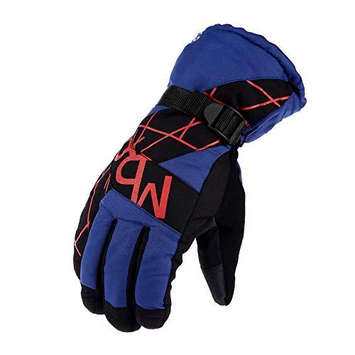 Para esquiar de invierno. Impermeable para hombre Guantes multifuncionales Invierno Cálido Snowboard Moto de nieve Clima frío Montar nieve Guantes de esquí Guantes de esquí ( Color : Blue )