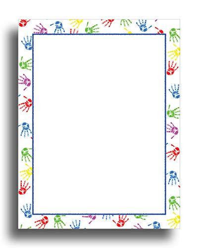 Baby Handprints Border Stationery Paper - 80 Sheets