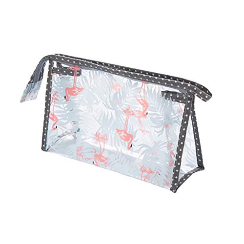 Lurrose Dumpling Cosmetic Bag Flamingo Patroon Waterdichte Rechthoek Make-up Opbergtas Transparante Toilettas