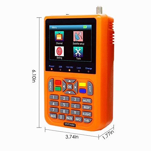 KOSIEJINN Buscador de satélite Digital V9, medidor de V9 Buscador de satélite Detección de satélite 3000 mAh incorporados para un Ajuste preciso de la Antena parabólica