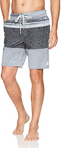 ZeroXposur Mens Guard 4 Way Stretch Board Short/Swim Trunks Grey Atomic X-Large