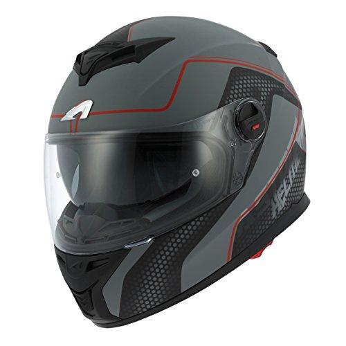 Astone Helmets gt800-alveo-rgm Motorradhelm GT 800, rot/grau, Größe M