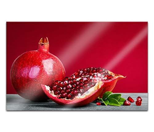 Acrylglasbilder 80x50cm Granatapfel Obst Kerne Küche Früchte Acryl Bilder Acrylbild Acrylglas Wand Bild 14H239
