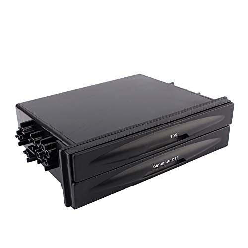 Auto Storage Box-New Universal Car Auto Double Din Radio Pocket Drink Cup Holder+Storage Box