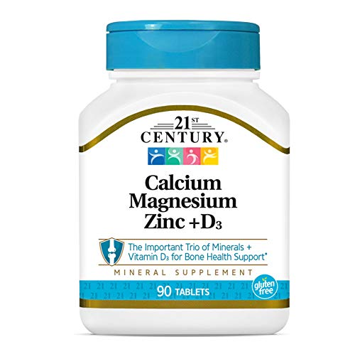 21st Century Health Care, Cal Mag Zinc + D3, 90 Tabletas