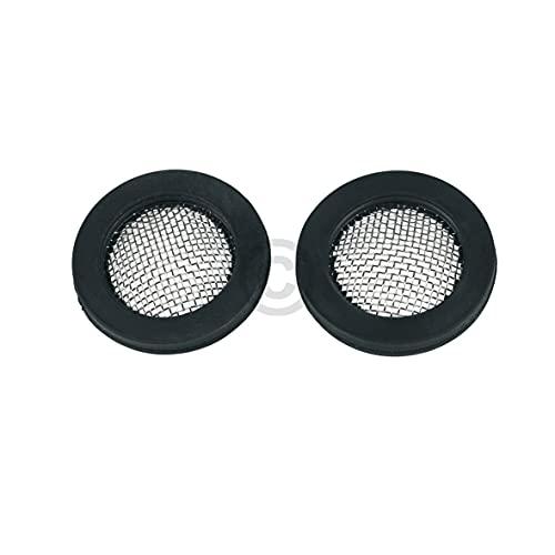 Junta de goma universal con colador, 17 x 24 mm, para manguera de entrada de 3/4 pulgadas, 2 unidades para lavadoras y lavavajillas