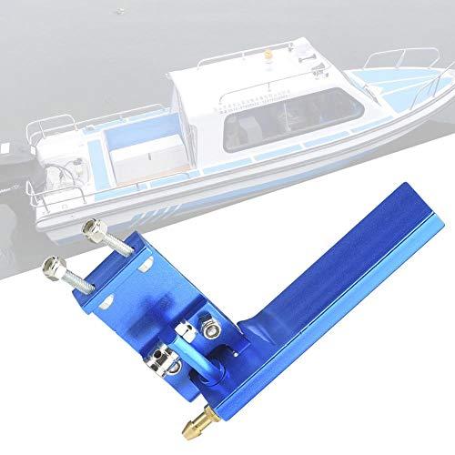 Dilwe RC Boat Rudder, Aluminium Rudder mit Wasseraufnahme für ferngesteuertes Elektro- / Methanolbootsmodell(blau, 75mm)