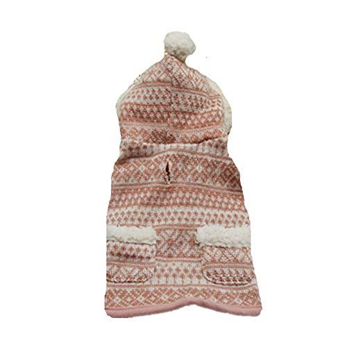 AMURAO Winter-Haustier-Hundekleidung Mantel, Hundepullover-Mantel-Jacken-Strickkleid Pomeranian Mops-Kleidung-Haustier-Outfits-Kostüm