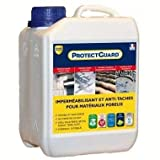 Guard Industrie Hydrofuge Anti-Tâches, Oléofuge ProtectGuard 2L - Imperméabilisant Antitache pour Pierres, Bétons, Murs, Terrasses, Façades - Jusqu'à 14m²