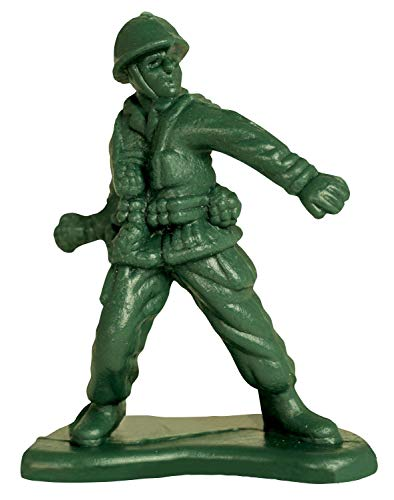 Paper House Productions 3.5' x 2.5' Die-Cut Green Army Man Toy Shaped Magnet for Refrigerators and Lockers