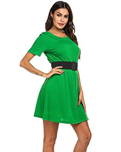 SHANUOINT Disfraz de San Patricio para mujer, vestido de camiseta verde de la suerte irlandesa para adultos