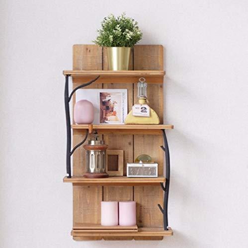 3 niveaux nordique vintage style industriel fer plateau, étagère murale rustique étagère rack étagère décorative décoration maison pour bar livres Plants cuisine, 48 * 22 * 86cm