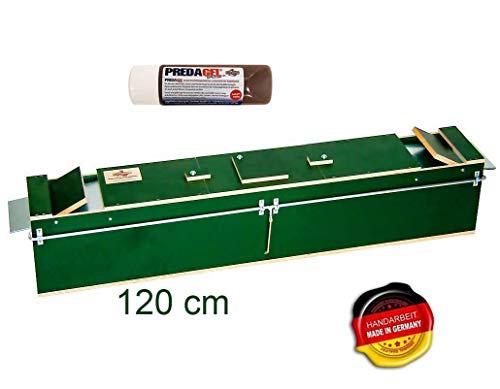 Qualitätsfallen Made in Germany Marderfalle lebend Tierfalle Lebendfalle Kastenfalle Iltisfalle120x18x21 + GRATIS Lockmittel Predagel Spezial 100g grün#71#