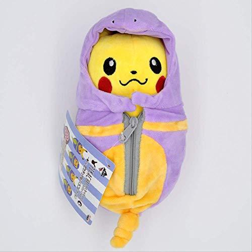 N / A Pikachu Plüschtier, Cartoon Pikachu Cosplay Plüschtier, Premium Pp Baumwolle Stofftier, Schlafsack Gefüllte Puppen Für Kinder Geschenk 20Cm A