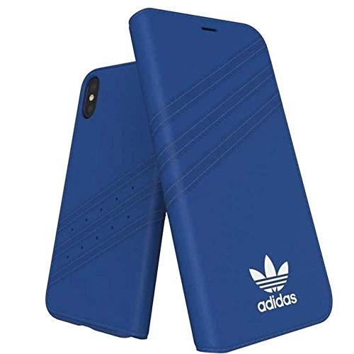 Adidas 28354 Originals Suede hoesjes voor Apple iPhone X - Blauw Portemonnee