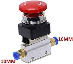 Transporter-Space - 1PCS Red Mushroom Cap Emergency stop Button Self Lock 2 Position 3 Way Air Pneumatic Mechanical Valve MOV-3 1/8
