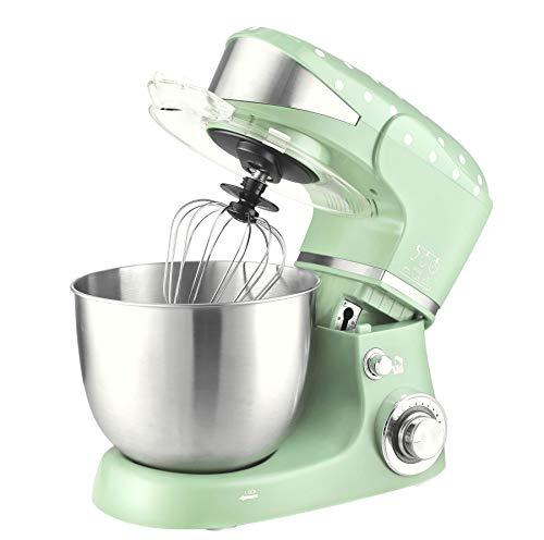 Kalorik TKG M 3014 MI Küchenmaschine mit Edelstahlschüssel, 5 Liter, 6 Geschwindigkeitsstufen, 4 Zubehörteile, 1000 W, Mint