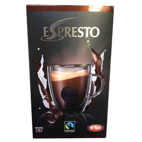 Espresto K-Fee Chocolatte, Trinkschokolade Fairtrade, Kakao, 16 Kapseln