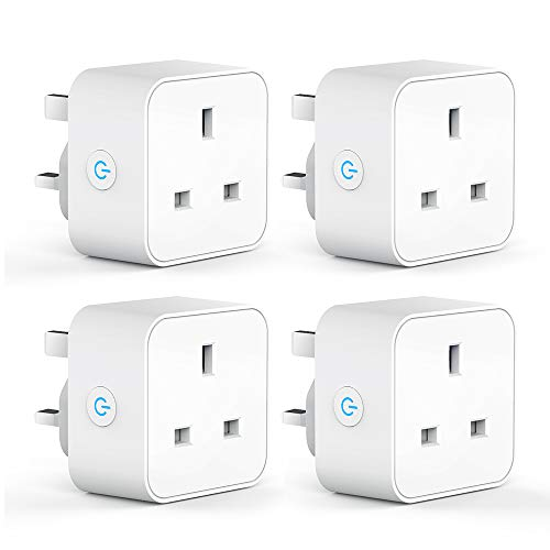 APP Remote Control with Timer Function Aigoss Wi-Fi Smart Socket Mini Smart Plug Switch Power Outlet Compatible with Alexa Google Home and IFTTT UK Standard