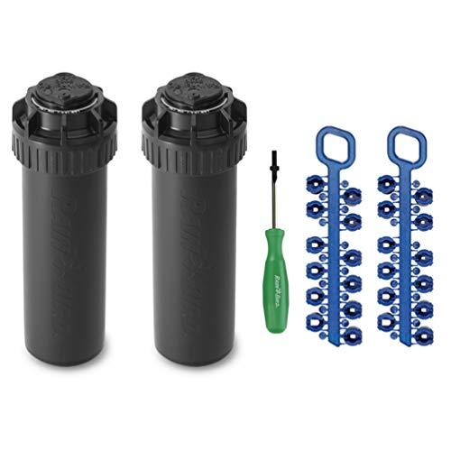 Rain-bird 5000 Series Rotor Sprinkler Head - 5004 PC Model, Adjustable 40-360 Degree Part-Circle, 4 Inch Pop-Up Lawn Sprayer Irrigation System - 25 to 50 Feet Water Spray Distance (Y54007) (2 Pack)