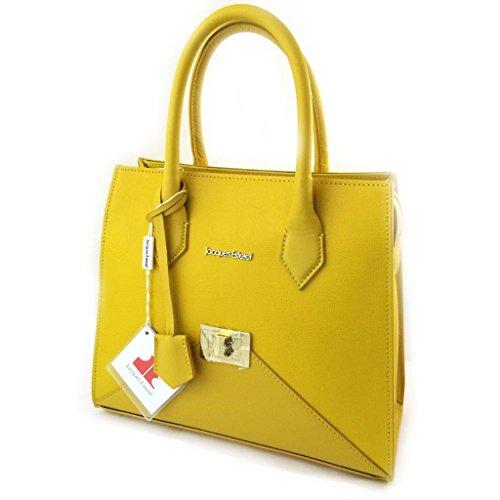 Borsa in pelle 'Jacques Esterel'di colore giallo.